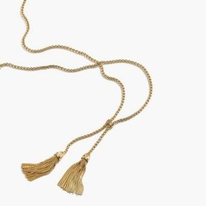 J. Crew Gold Tassel Chain Necklace